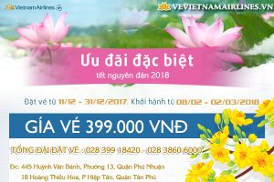 ve may bay tet 2018 vietnam airlines gia re