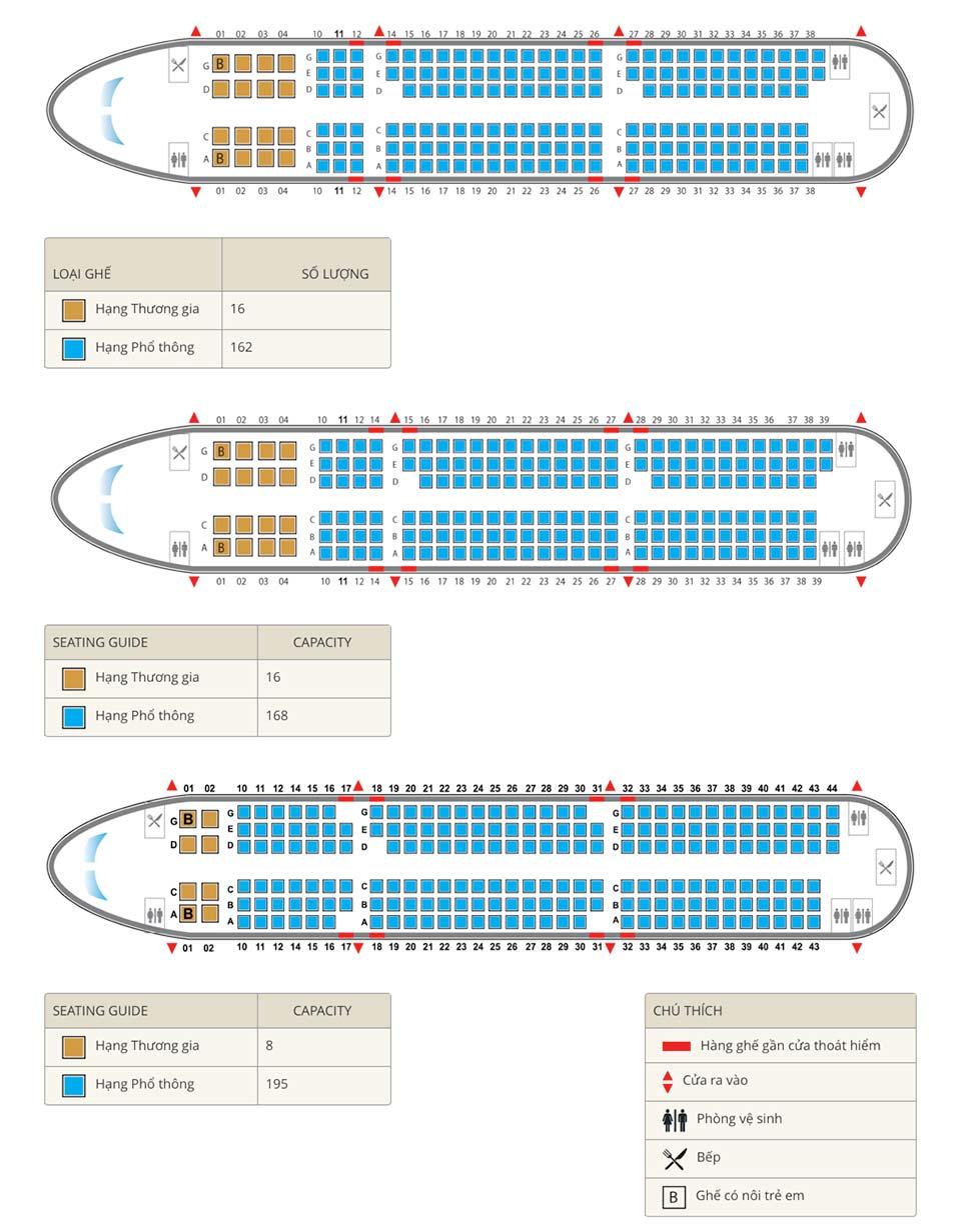 sơ đồ ghế ngồi trên chuyến bay vietnam airlines a321