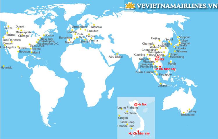 các đường bay của Vietnam Airlines